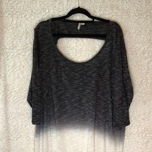 Cato Sweater top 22/24 Black fade to white